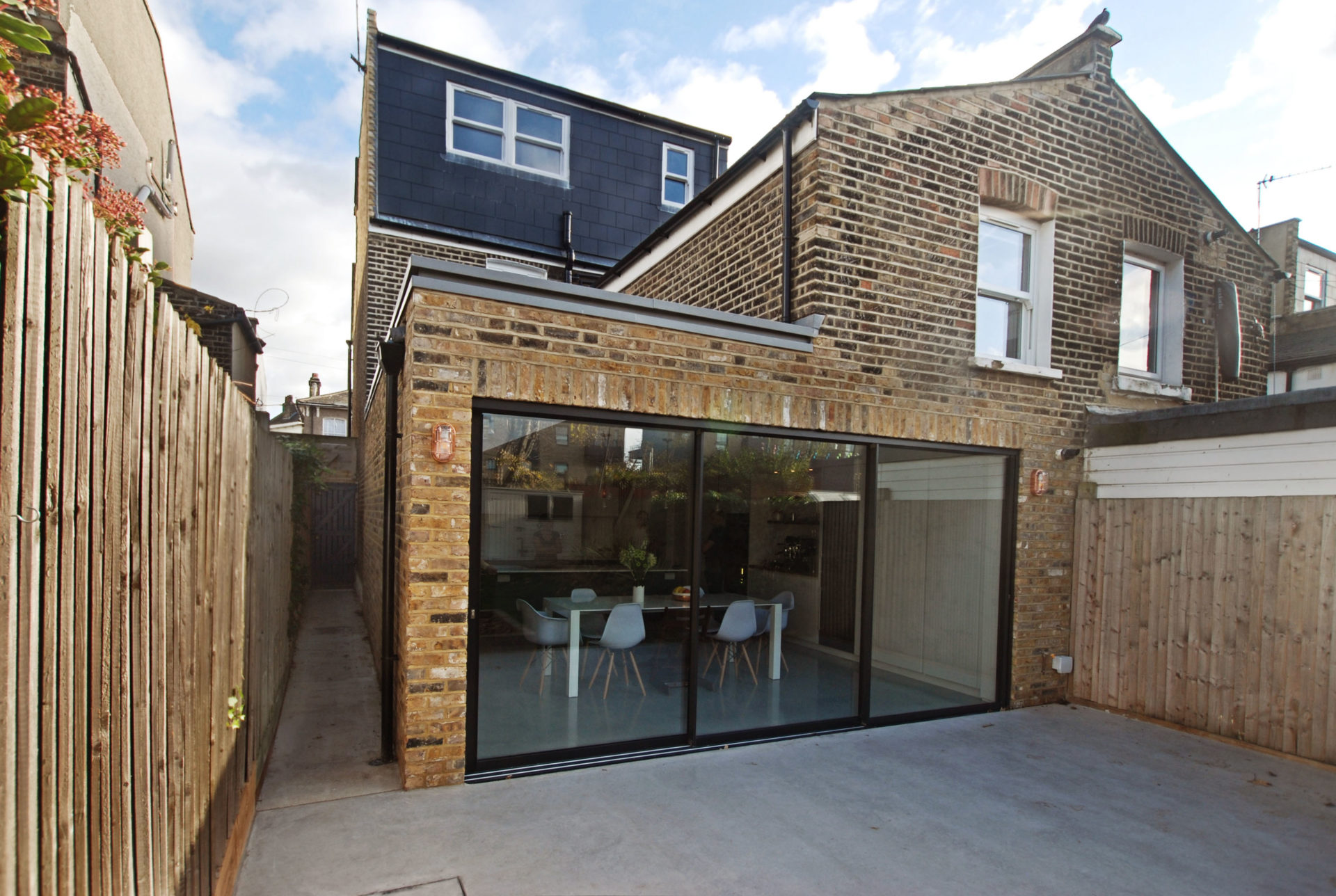 Brick kitchen extension