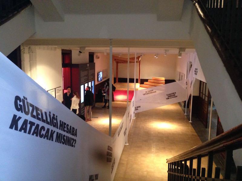 Izmir floating docs at the Istanbul Biennal